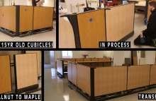 Walls & Interiors Providence Hospital Interior Cubicles Wood Grain Wraps