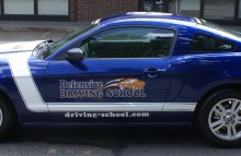 Cars Vans & Trucks Defensive Driving School Partial Wraps