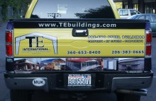 Cars Vans & Trucks TE Building Truck Wrap