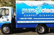 Box Trucks, Buses & Trailers Pure Clean Carpet Cleaning Box Truck Wrap