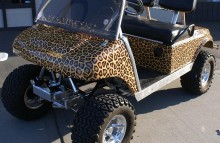Digitally Printed Vehicles Golf Cart Wrap