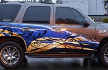 Digitally Printed Vehicles Boss Lady Suburban Partial Wrap