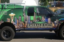 Cars Vans & Trucks Emerald City Window Tint Truck Wrap