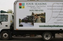 Box Trucks, Buses & Trailers Four Seasons Landscaping Box Truck Wrap