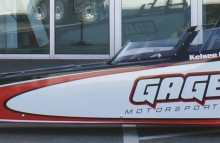 Digitally Printed Vehicles Gage Motorsports Mini Dragster Wrap