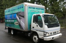 Box Trucks, Buses & Trailers Gutter Solutions Box Truck Wrap