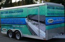 Box Trucks, Buses & Trailers Gutter Solutions Trailer Wrap
