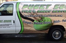 Cars Vans & Trucks Puget Sound Tile & Grout Van Wrap