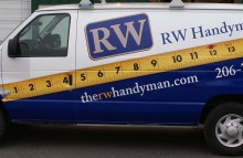 Cars Vans & Trucks RW Handy Man Partial Van Wrap