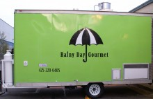 Box Trucks, Buses & Trailers Rainy Day Gourmet Trailer Wrap