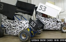 Digitally Printed Vehicles Urban Camo Mini Sprint Cars