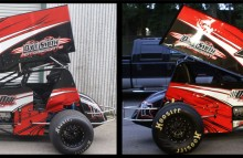 Digitally Printed Vehicles Pro Sprint Car Wrap for Dave Smith Motorsports