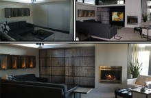 Walls & Interiors Edmonds Home Faux Cement Wall Wrap for Sliding Television Enclosure