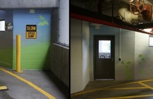 Walls & Interiors Brick Wall Wrap in Downtown Seattle Parking Garage