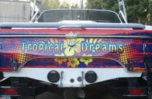 "Boats Centurion Air Warrior Boat Wrap - ""Tropical Dreams"" with See Through Window Graphics"