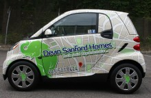 "Cars Vans & Trucks Devin Sanford Homes - Smart Car Real Estate ""Map"" Wrap"