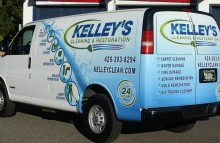 Cars Vans & Trucks Kelley's Cleaning & Restoration - Partial Van Wrap
