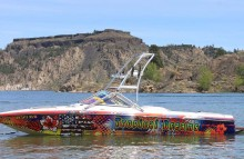 "Boats Centurion Air Warrior Boat Wrap - ""Tropical Dreams"""