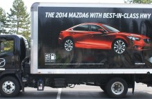 Box Trucks, Buses & Trailers Mazda Corporation Wrap advertising the new Mazda 6