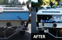 Boats Blue and Black MasterCraft Before/After Backside