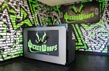 Walls & Interiors Wicked Wraps Reception Room
