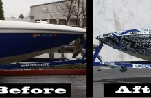 Boats Moomba Boat Full Wrap Before&After