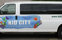 Cars Vans & Trucks Kid City Partial Van Wrap