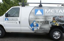Cars Vans & Trucks Metal Supermarkets Partial Wrap