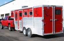 Box Trucks, Buses & Trailers Equine Clarity Trailer Wrap (From White to Red)