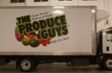 Box Trucks, Buses & Trailers The Produce Guys Partial Wrap