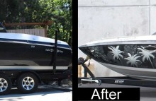 Boats Malibu Boat Wrap Before and After