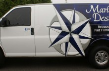 Cars Vans & Trucks Maritime Design Partial Van Wrap
