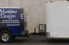 Cars Vans & Trucks Maritime Design Van and Trailer Half Wrap