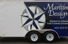 Box Trucks, Buses & Trailers Maritime Design Trailer Wrap