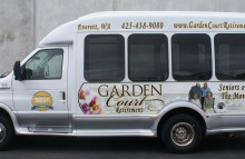 Box Trucks, Buses & Trailers Shuttle Bus for Garden Court Retirement