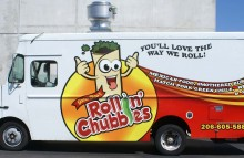 Box Trucks, Buses & Trailers Food Truck Partial Wrap for Rollin' Chubbies