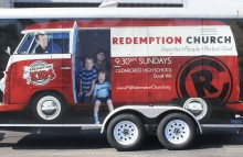Box Trucks, Buses & Trailers Full Trailer Wrap for Redemption Church Side View