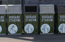 Miscellaneous Trash Can Wraps for Goddard Stadium