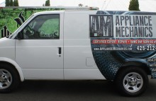 Cars Vans & Trucks Partial Van Wrap for Appliance Mechanics