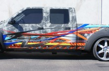 Digitally Printed Vehicles Customized Full Wrap