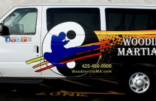Cars Vans & Trucks Partial Van Wrap for Woodinville Martial Arts