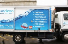 Box Trucks, Buses & Trailers Full Box Truck Wrap for Pure Clean
