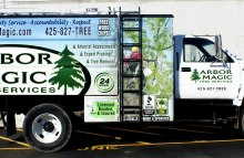 Box Trucks, Buses & Trailers Full Chip Truck Wrap For Arbor Magic Tree Services