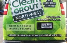 Cars Vans & Trucks Partial Wrap For Clean Grout Northwest