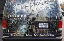 Cars Vans & Trucks Partial Wrap For Pacific Metal Arts