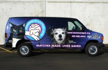 Cars Vans & Trucks Full Van Wrap For Homeward Pet Adoption Center