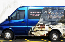 Cars Vans & Trucks Pro Granite Partial Sprinter Wrap
