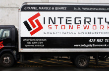 Box Trucks, Buses & Trailers Integrity Stonework Full Box Truck Wrap