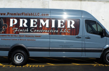 Cars Vans & Trucks Premier Finish Construction Partial Wrap