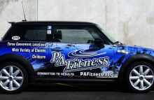 Cars Vans & Trucks Mini Cooper Full Wrap for PA Fitness